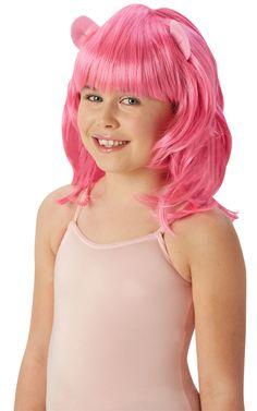 My Little Pony Pinkie Pie -peruukki. Nyt pikkutyttöjen suosikki My Little Pony sarjaan myös pastellin sävyiset peruukit.