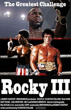 Rocky 3 Rocky Balboa: Nothing is real if you don't believe in who you are! Rocky Series, Rocky Film, Rocky 3, 80s Movies, Action Movies, Good Movies, Movie Stars, Movie Tv, Rocky Stallone