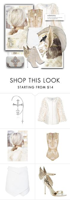 """""""Christ's Saints & Archangels"""" by spicedblossom ❤ liked on Polyvore featuring Elise Dray, Bambah, OuiHours, Dion Lee, Balmain, Sophia Webster, The Bradford Exchange and Berta"""