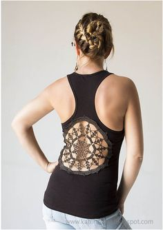 Top 10 DIY Fashionable Clothes From Old Crocheted Doilies- when i have a back like that...