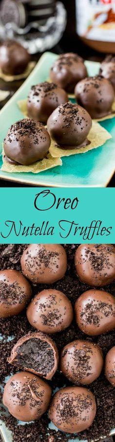 how to make Oreo nutella truffles