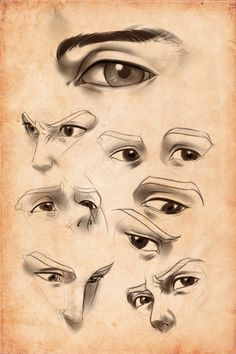 Practice: 'Male' eyes by *Artipelago on deviantART Anatomy Sketches, Drawing Sketches, Art Drawings, Sketching, Manga Drawing Tutorials, Art Tutorials, Drawing Practice, Drawing Lessons, Butterfly Coloring Page
