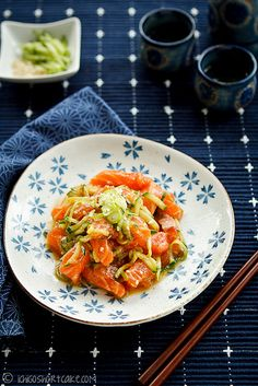 Marinated Salmon Sashimi Salad