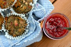 Sunday Recipe: Raspberry Rhubarb Quinoa Muffins with Raspberry Fig Jam