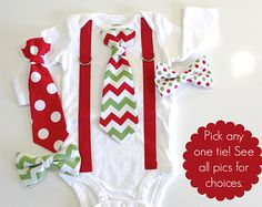 Baby Boy Christmas Outfit. Chevron Tie and suspender outfit for christmas. Toddler Christmas clothes. Newborn boy. infant Toddler Boy Christmas Outfits, Boys Christmas Shirt, Christmas Clothes, Newborn Christmas Outfit Boy, Toddler Boy Outfits, Babies First Christmas, Christmas Baby, Diy Newborn Clothes, Newborn Outfits