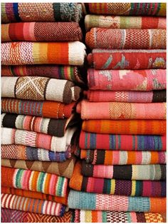 Fabrics. Gotta start buying some every new place I go so my house is full of lovely colors and patterns and textures; :)