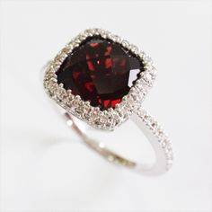 Garnet Engagement Ring.  Perfect for me!