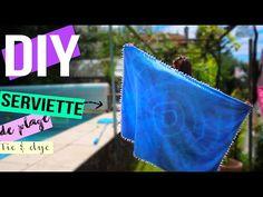 DIY┋SERVIETTE DE PLAGE TIE & DYE A POMPONS _ beach towel tassel, DIY Français - YouTube