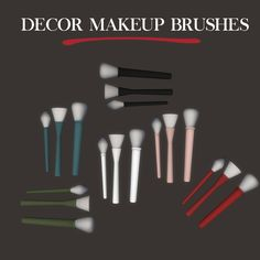 Leo Sims - Makeup brushes decor for The Sims 4 The Sims, Sims Cc, Sims 4 Toddler Clothes, Sims 4 Cc Kids Clothing, Tumblr Sims 4, Sims 4 Clutter, Sims 4 Cc Shoes, Best Sims, Sims 4 Cc Makeup