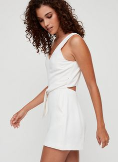 This romper version of the Écoulement has a subtle back cut out and a self-tie waist. It's made from a luxe Japanese crepe with an intricate basketweave texture. Tight Dresses, Dresses With Sleeves, Japanese Crepes, Date Night Dresses, Black Bodycon Dress, Body Con Skirt, Latest Dress, Skirt Fashion, Flare Dress
