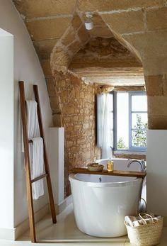 amenagement petite salle de bain rustique                                                                                                                                                      Plus