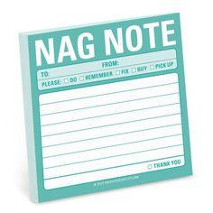 Nag Note Sticky Note Pad