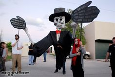 Giant Day of the Dead puppet from  Ft. Lauderdale, Fl.