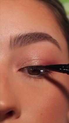Daytime Eye Makeup, Edgy Makeup, Makeup Eye Looks, Eye Makeup Steps, Eye Makeup Art, Soft Eye Makeup, Pretty Eye Makeup, Natural Eyeshadow Looks, Korean Eye Makeup