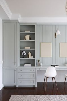 Home Office Design, Home Office Decor, Home Interior Design, House Design, Home Decor, Home Office Storage, Office Organization, Design Design, Office Built Ins