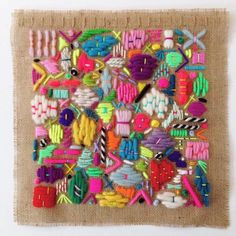 """fibrearts: """"Elizabeth Pawle's scattering embroideries remind me of doodles made with thread. Embroidery Thread, Cross Stitch Embroidery, Embroidery Patterns, Diy Broderie, Adult Crafts, Fabric Art, Yarn Crafts, Textile Art, Fiber Art"""