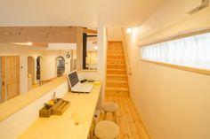 【アイジースタイルハウス】階段。スキップフロアの上はスタディコーナー