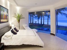 @Playa Hermosa house rental - Master bedroom with panoramic ocean view
