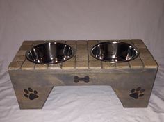 A personal favorite from my Etsy shop https://www.etsy.com/listing/474174324/dog-feeder-8-12-tall
