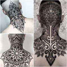 Best Neck Tattoo Ideas for Men - diy tattoo images Tribal Neck Tattoos, Full Neck Tattoos, Geometric Sleeve Tattoo, Head Tattoos, Cover Up Tattoos, Wolf Tattoos, Arm Tattoos For Guys, Finger Tattoos, Body Art Tattoos
