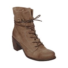 Oh how I wish this wasnt against my moral code of honor :( Leather = not buying it    RAMBOW BROWN LEATHER women's bootie flat casual - Steve Madden