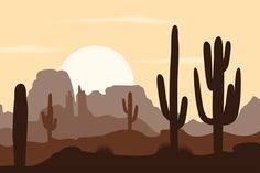 Desert Illustration Vector by Toltemara on @creativemarket