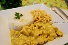 Receita de Frango indiano ao Curry passo-a-passo. Acesse e confira todos os ingredientes e como preparar essa deliciosa receita!