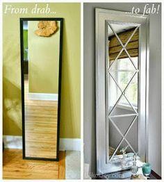 Convertir puerta en puerta espejo Decor : DIY: Upcycle a Door Mirror from Drab… Home Crafts, Diy Decor, Diy Home Decor, Cheap Home Decor, Home Diy, Cheap Doors, Upcycle Door, Diy Furniture, Home Decor