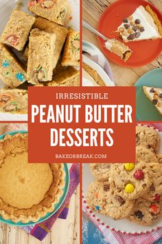 Satisfy all your peanut butter cravings with this collection of peanut butter desserts! Cookies, pies, cakes, cheesecakes, and more! - Bake or Break #peanutbutter Peanut Butter Dessert Recipes, Peanut Butter Sandwich Cookies, Classic Peanut Butter Cookies, Peanut Butter Filling, Peanut Butter Cheesecake, Peanut Butter Chips, Peanut Butter White Chocolate, Chocolate Chip Pie, Butter Toffee