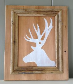 This is so cool! Home {Made}: Easy deer silhouette DIY