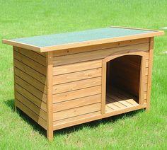 WOLTU XXL Hundehütte Hundehaus Wetterfest Hunde Haus Hütte Massivholz…