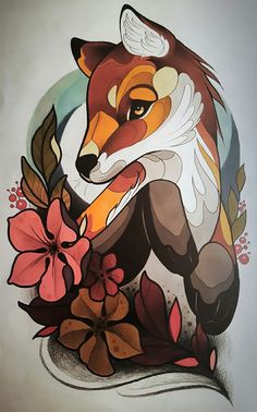 Unique Animal Tattoo Designs Doozy List - Here Is Unique Animal Tattoo Designs For You Deer Tattoo Via Makkalarosetattoos The Dog King Tattoo Via Nichlasvendelbotattoo Small Lion Tattoo Via Nikigtr Half Sleeve Tiger Tattoo V Natur Tattoos, Kunst Tattoos, Tattoo Drawings, Body Art Tattoos, Fox Tattoos, Sketch Tattoo, Sleeve Tattoos, Neo Traditional Art, Traditional Tattoo Design