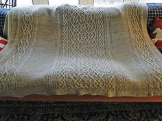 Ravelry: Cable Blanket pattern by Sarah Monroe