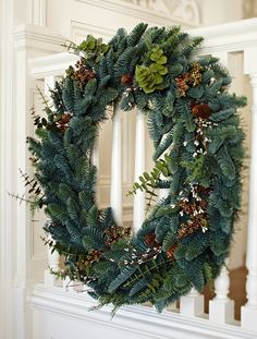 Be dazzled by a glorious display of natural splendor this holiday season with our Mountain Meadow Christmas wreath and Mountain Meadow Christmas garland.