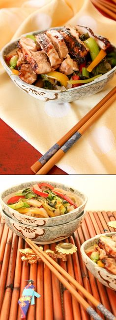 Teriyaki Chicken Shiratake Yakisoba | Low carb, gluten free Shiratake noodles and a teriyaki sauce that's soy-free and has zero sodium!