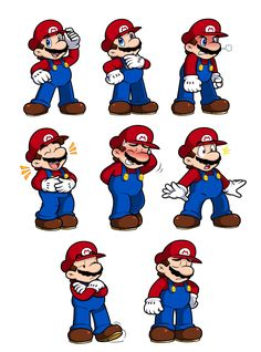 Ask Mario Expression Sheet by Nintendrawer on DeviantArt