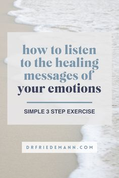 How to Listen to the Healing Messages of your Emotions   Here is a simple 3 step exercise, which allows you to consciously connect to your emotions, begin to understand and address their deeper meaning – and by doing so release them from their subconscious storage. Fear Of Being Alone, Inner Child Healing, Step Workout, Self Empowerment, Subconscious Mind, Anxiety Relief, Guided Meditation, Self Improvement, Affirmations