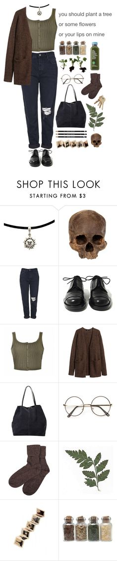 """""""We could leave today and not come back"""" by purpleghost ❤ liked on Polyvore featuring Topshop, Achilles Ion Gabriel, Ally Fashion, H&M, MANGO, Brora and Rock 'N Rose"""