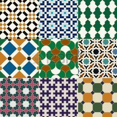 senza soluzione di piastrelle islamico disegno geometrico Archivio Fotografico
