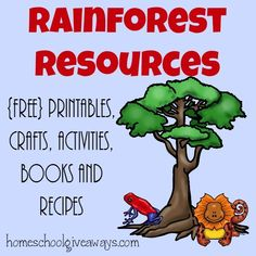 Studying the Rainforest? Check out this HUGE list of resources from {free} printables to crafts to recipes & MORE!! :: www.homeschoolgiveaways.com