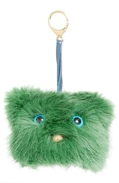 4c8c0d6b2d Shrimps  Jerry  Mascot Faux Fur Bag Charm Green Handbag