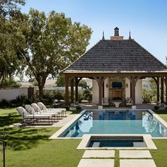 Having a pool sounds awesome especially if you are working with the best backyard pool landscaping ideas there is. How you design a proper backyard with a pool matters. Backyard Pool Designs, Swimming Pool Designs, Pool Landscaping, Patio Design, Pool Backyard, Backyard Ideas, Garden Design, Sloped Backyard, Modern Backyard