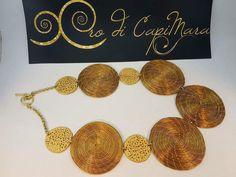 Collana in oro di capim dorato
