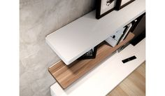 Lift Large Floating Shelf - white high gloss