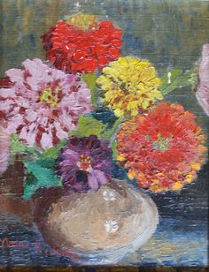 Beautiful bright floral painting by Anne Redpath