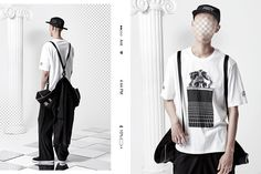 Featuring streetwear ponchos and some witty logo flips from Korean brand Antimatter. Korean Streetwear, Korean Brands, Summer Lookbook, Dope Outfits, Hypebeast, Dna, Street Wear, Menswear, Spring Summer
