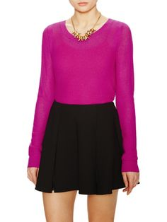 Cashmere Mesh Crewneck Sweater from Elorie on Gilt