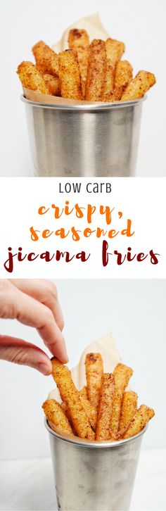 Low Carb Crispy Seasoned Jicama Fries | Personally Paleo