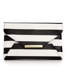 Stlye&co. Lily Envelope Striped Clutch - Handbags & Accessories