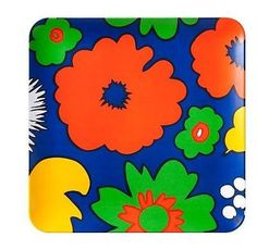 NEW Marimekko for Target Square Serving Food Tray Plate, Kukkatori, Primary